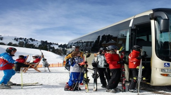 Location bus ski